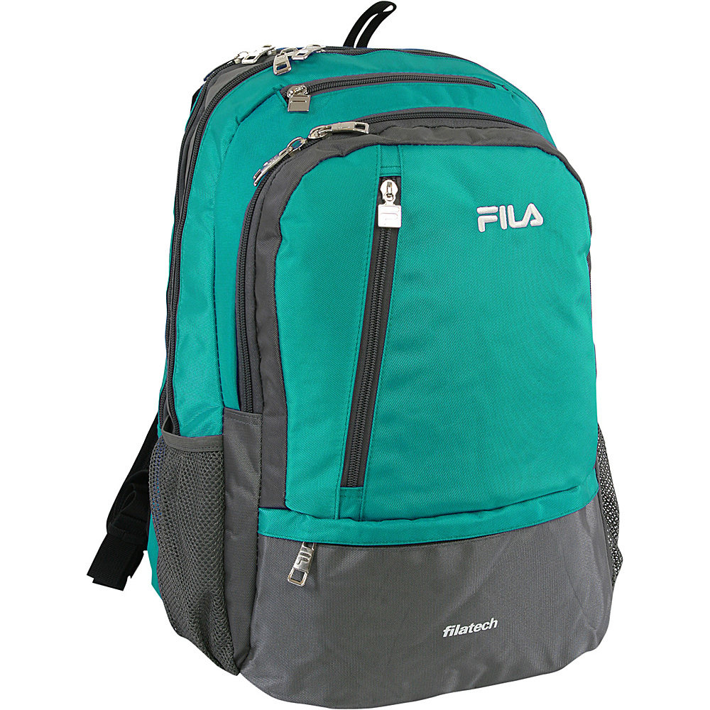 Fila Duel Tablet and Laptop Backpack Teal Fila Business Laptop Backpacks