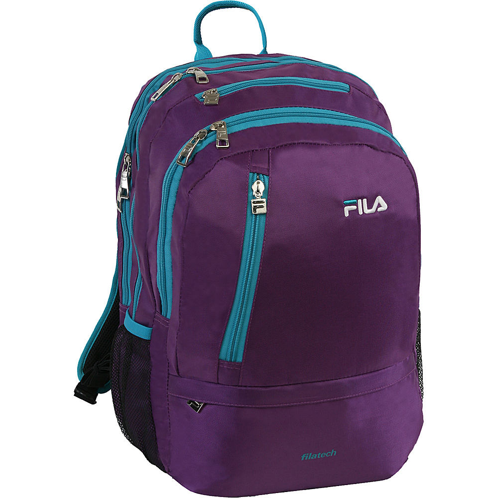 Fila Duel Tablet and Laptop Backpack Purple Teal Fila Business Laptop Backpacks