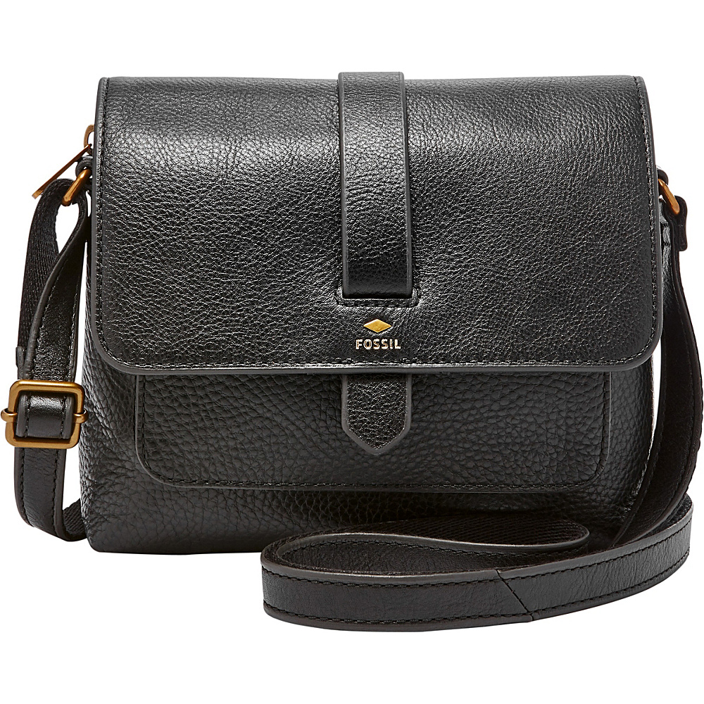 Fossil Kinley Small Crossbody Black - Fossil Leather Handbags - Handbags, Leather Handbags