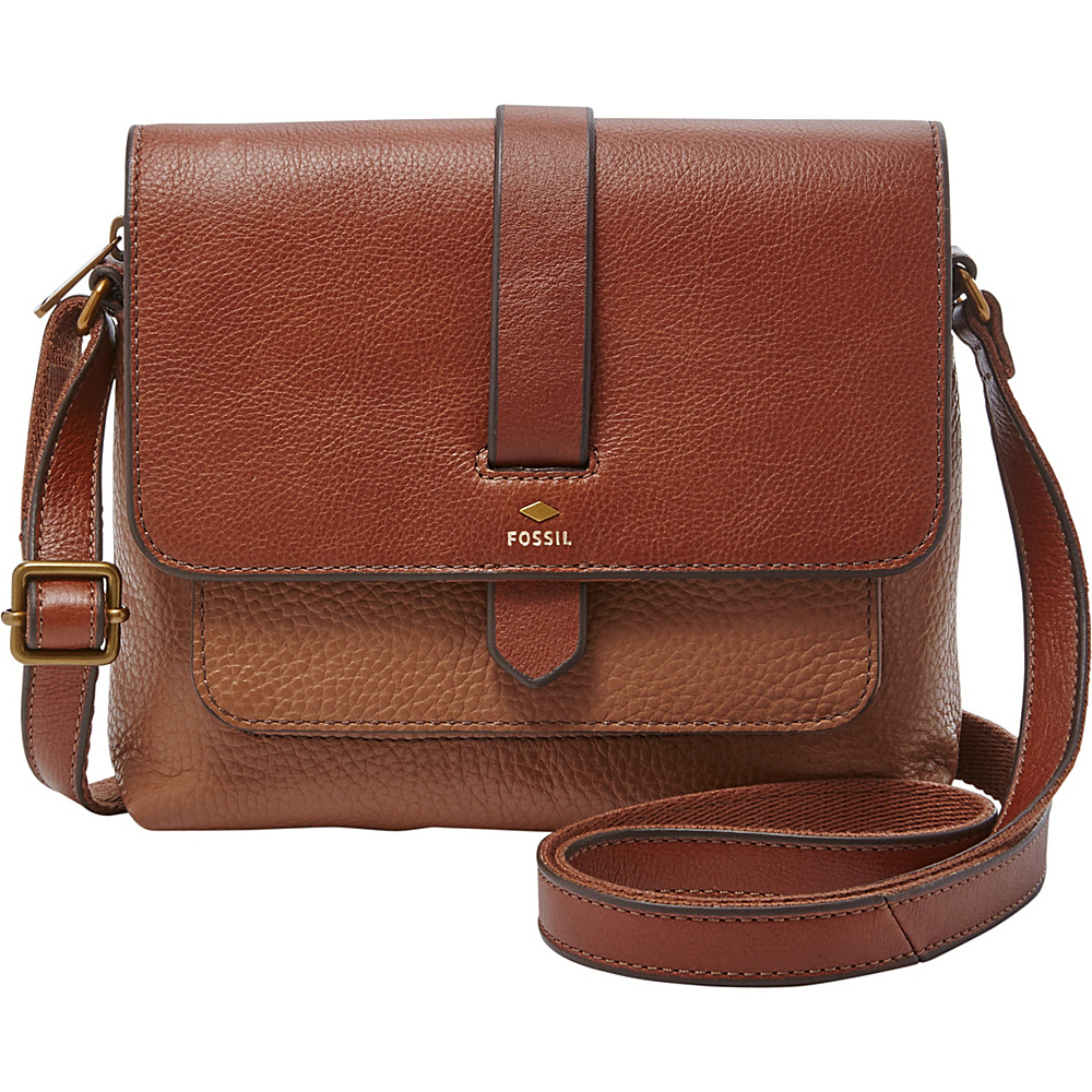 Fossil Kinley Small Crossbody Brown - Fossil Leather Handbags - Handbags, Leather Handbags