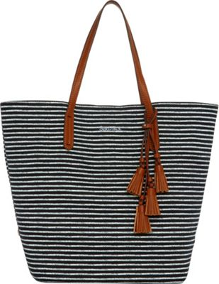 Splendid Key West Tote Black Stripe - Splendid Designer Handbags