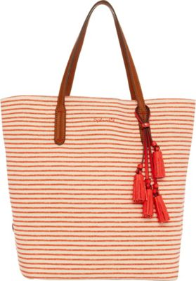 Splendid Key West Tote Orange Stripe - Splendid Designer Handbags