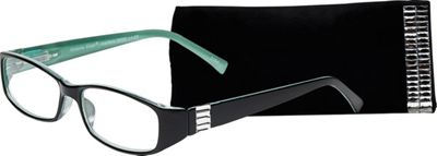 Select-A-Vision Victoria Klein Reading Glasses +2.25 - Green Rectangle Accent - Select-A-Vision Sunglasses