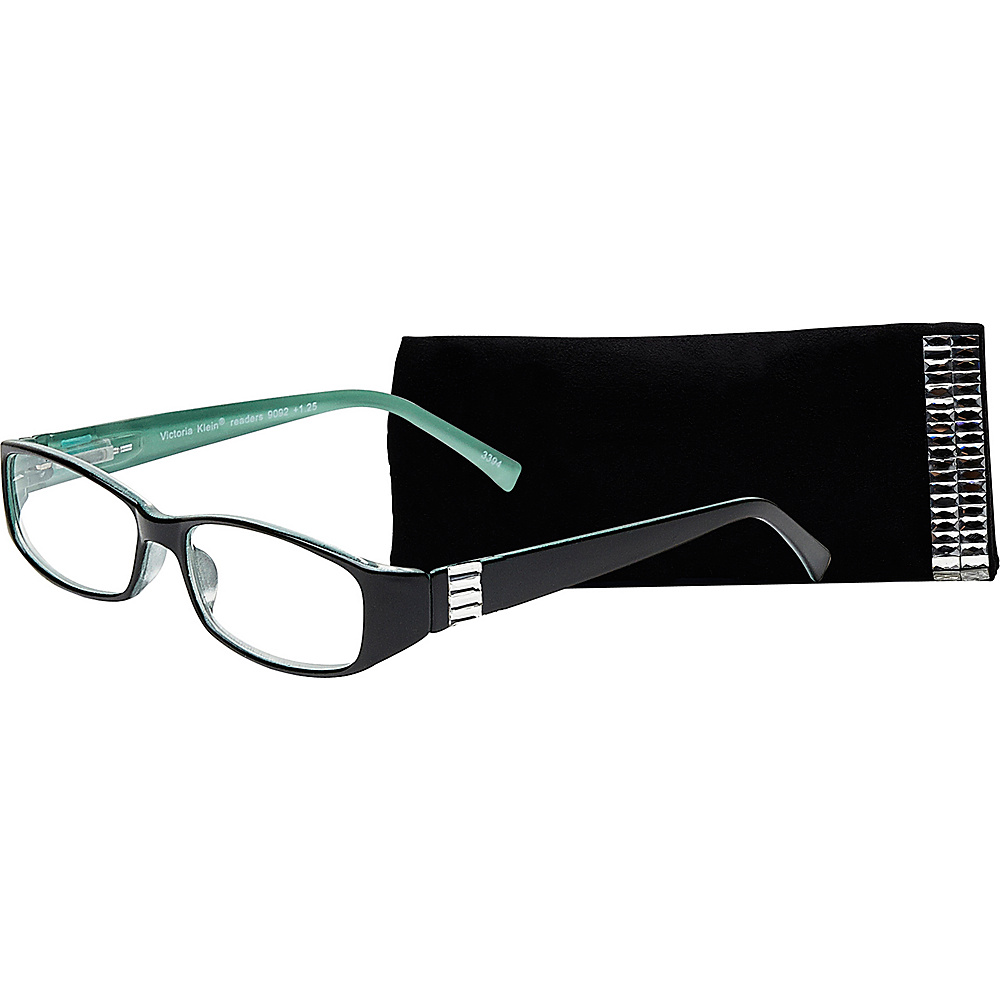 Select A Vision Victoria Klein Reading Glasses 1.25 Green Rectangle Accent Select A Vision Sunglasses