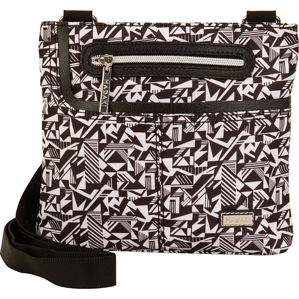 Hadaki Mini Me Crossbody Black & White - Hadaki Fabric Handbags - Handbags, Fabric Handbags
