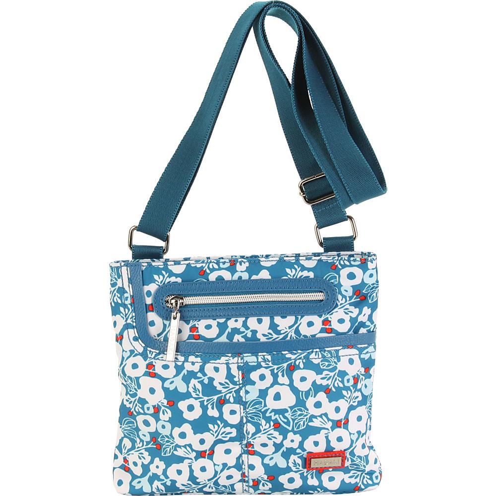 Hadaki Mini Me Crossbody Berry Blossom Teal - Hadaki Fabric Handbags - Handbags, Fabric Handbags