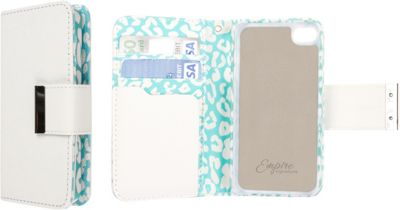 EMPIRE Klix Klutch Designer Wallet Case iPhone 4S Mint Leopard - EMPIRE Electronic Cases