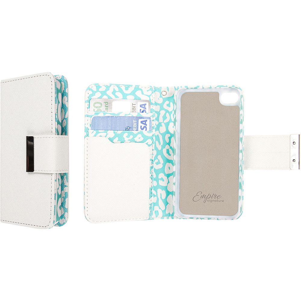 EMPIRE Klix Klutch Designer Wallet Case iPhone 4S Mint Leopard EMPIRE Electronic Cases