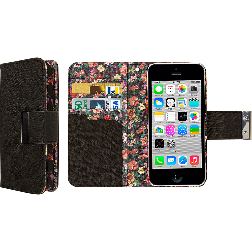 EMPIRE Klix Klutch Designer Wallet Case iPhone 4S Vintage Floral EMPIRE Electronic Cases