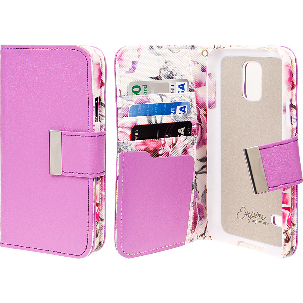 EMPIRE Klix Klutch Designer Wallet Case iPhone 4S Pink Faded Flowers EMPIRE Electronic Cases