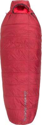 Big Agnes Gunn Creek 30 Insotect Hot Stream Sleeping Bag Crimson - Long Right - Big Agnes Outdoor Accessories