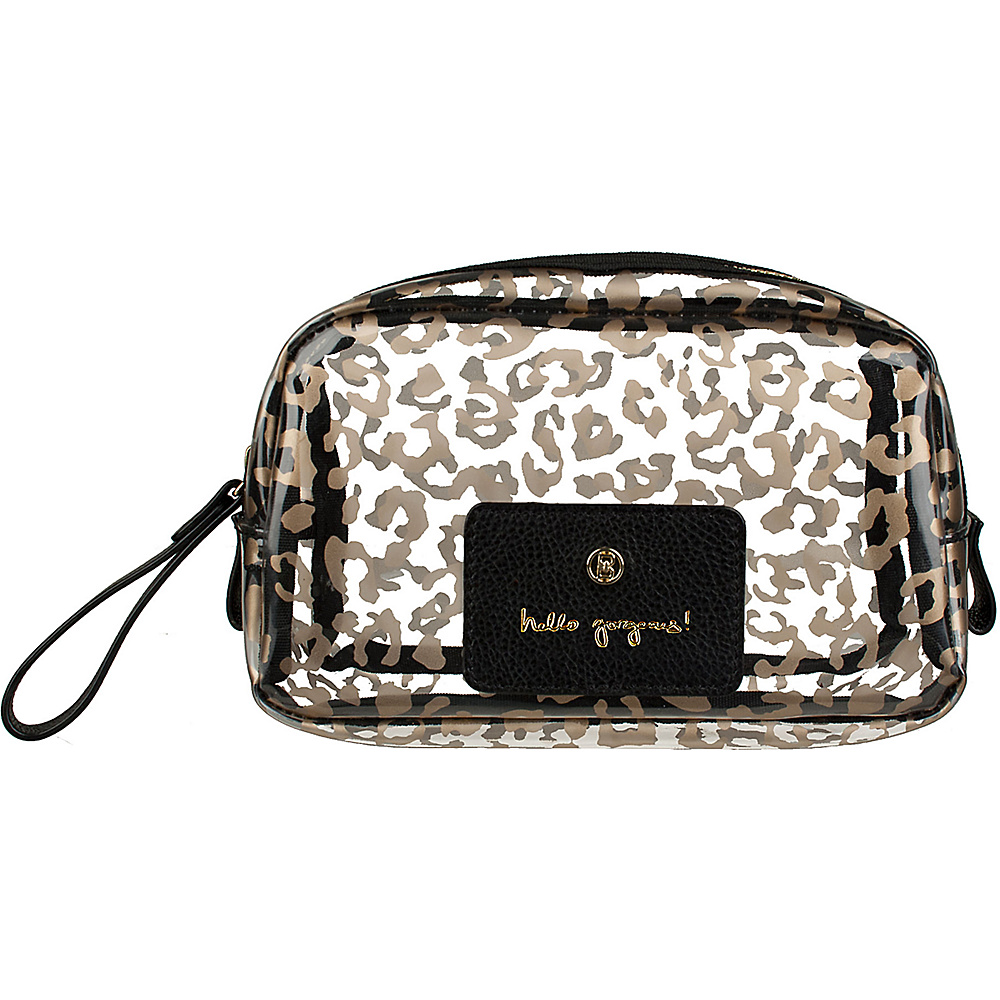 Boulevard Hello Gorgeous! Gumdrop Glass Bag Leopard with Black Leather - Boulevard Women's SLG Other