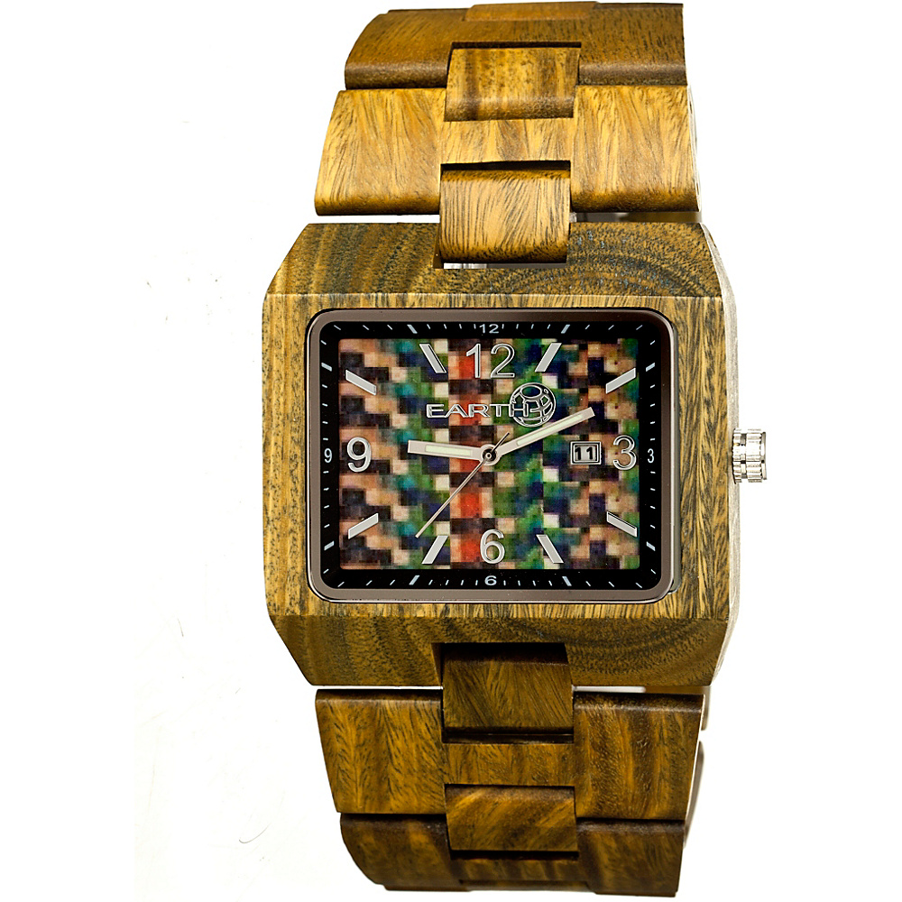 Earth Wood Rhizomes Wood Unisex Watch Olive Earth Wood Watches
