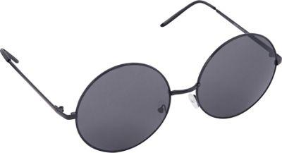 POP Fashionwear Retro Vintage Huge Oversize Round Sunglasses Black/Smoke Lens - POP Fashionwear Sunglasses