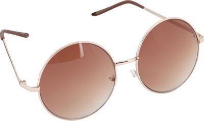 POP Fashionwear Retro Vintage Huge Oversize Round Sunglasses Gold/Brown Lens - POP Fashionwear Sunglasses