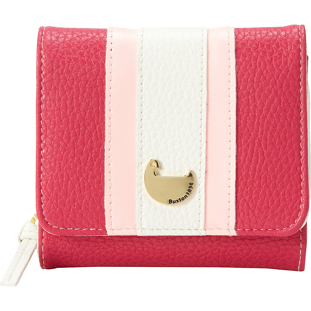 Buxton Prepster Zip French Purse Fuchsia Pink - Buxton Womens Wallets - Women's SLG, Women's Wallets