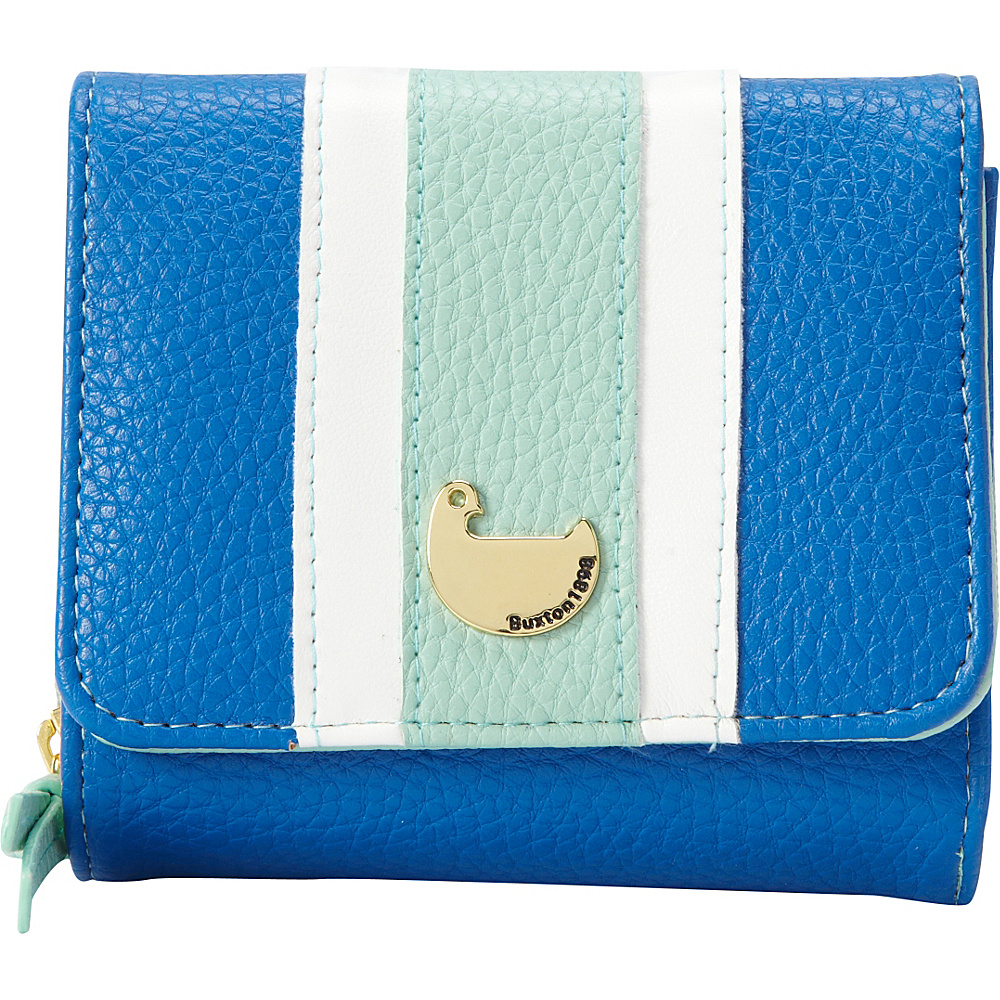 Buxton Prepster Zip French Purse Strong Blue - Buxton Womens Wallets - Women's SLG, Women's Wallets
