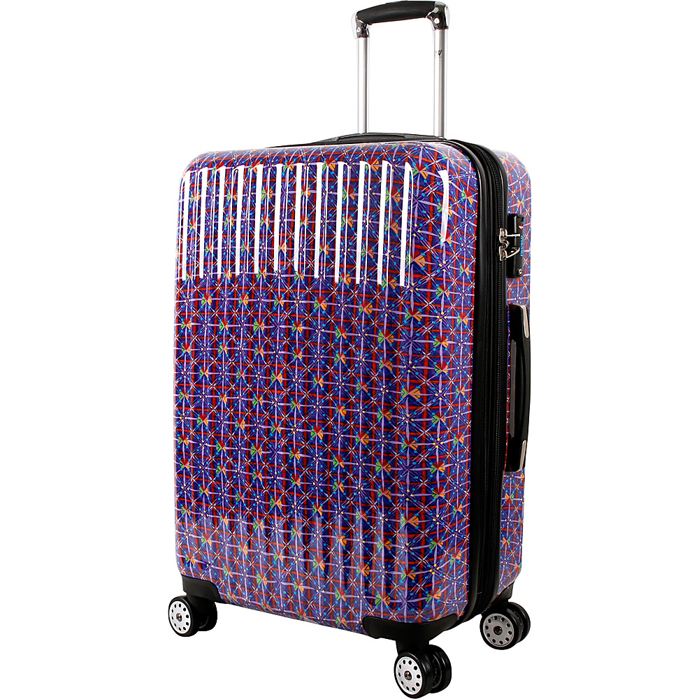 J World New York Titan 24 inch Polycarbonate Art Luggage Squares - J World New York Hardside Checked - Luggage, Hardside Checked