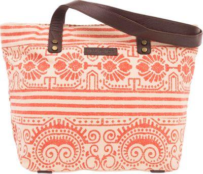 Bella Taylor Shoulder Tote Amber Orange - Bella Taylor Fabric Handbags