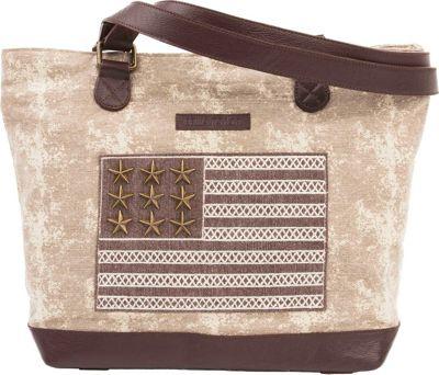 Bella Taylor Shoulder Tote Ellis Tan - Bella Taylor Fabric Handbags