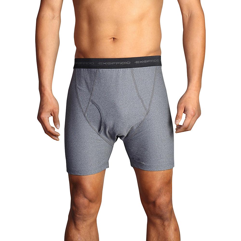 ExOfficio Give-N-Go Boxer Brief 2XL - Charcoal Heather - ExOfficio Mens Apparel - Apparel & Footwear, Men's Apparel
