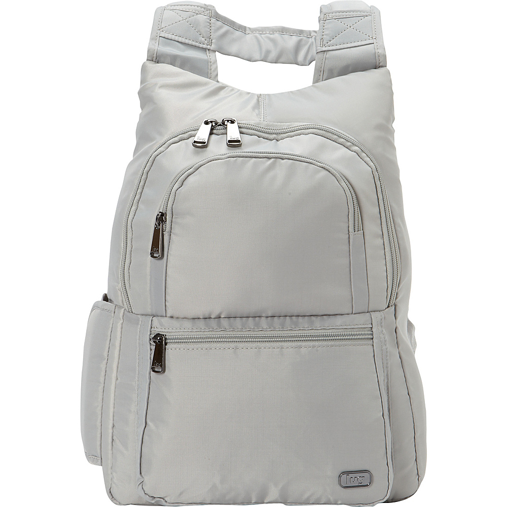 Lug RFID Hatchback Mini Backpack Platinum Silver - Lug Fabric Handbags -  10417989 by Lug ced818fc5b2a0