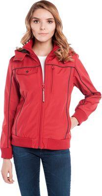 BAUBAX Women's Bomber Jacket L - Red - BAUBAX Women's Apparel