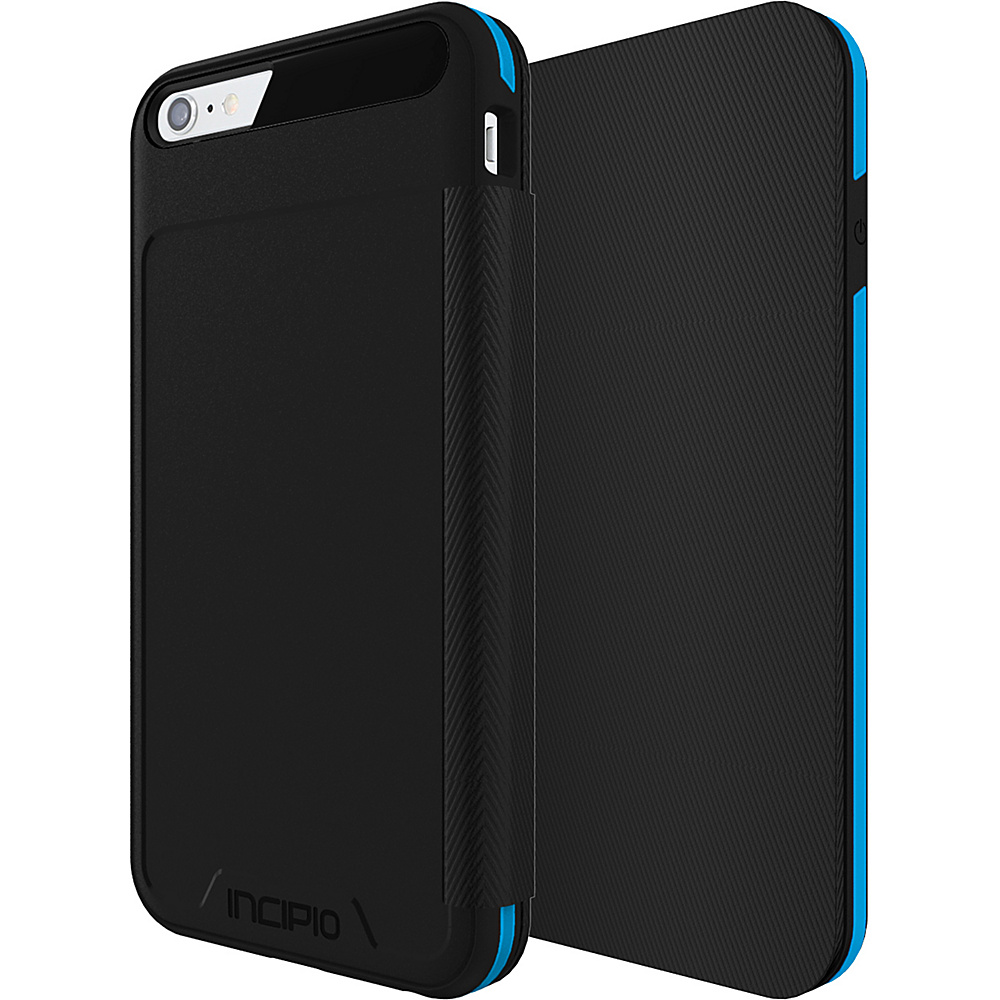 Incipio Performance Series Level 3 Folio for iPhone 6 Plus / 6s Plus Black/Cyan - Incipio Electronic Cases - Technology, Electronic Cases