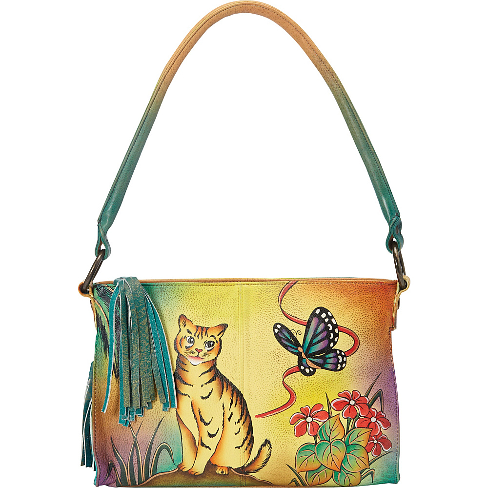 ANNA by Anuschka Hand Painted Shoulder Bag Cat ANNA by Anuschka Leather Handbags