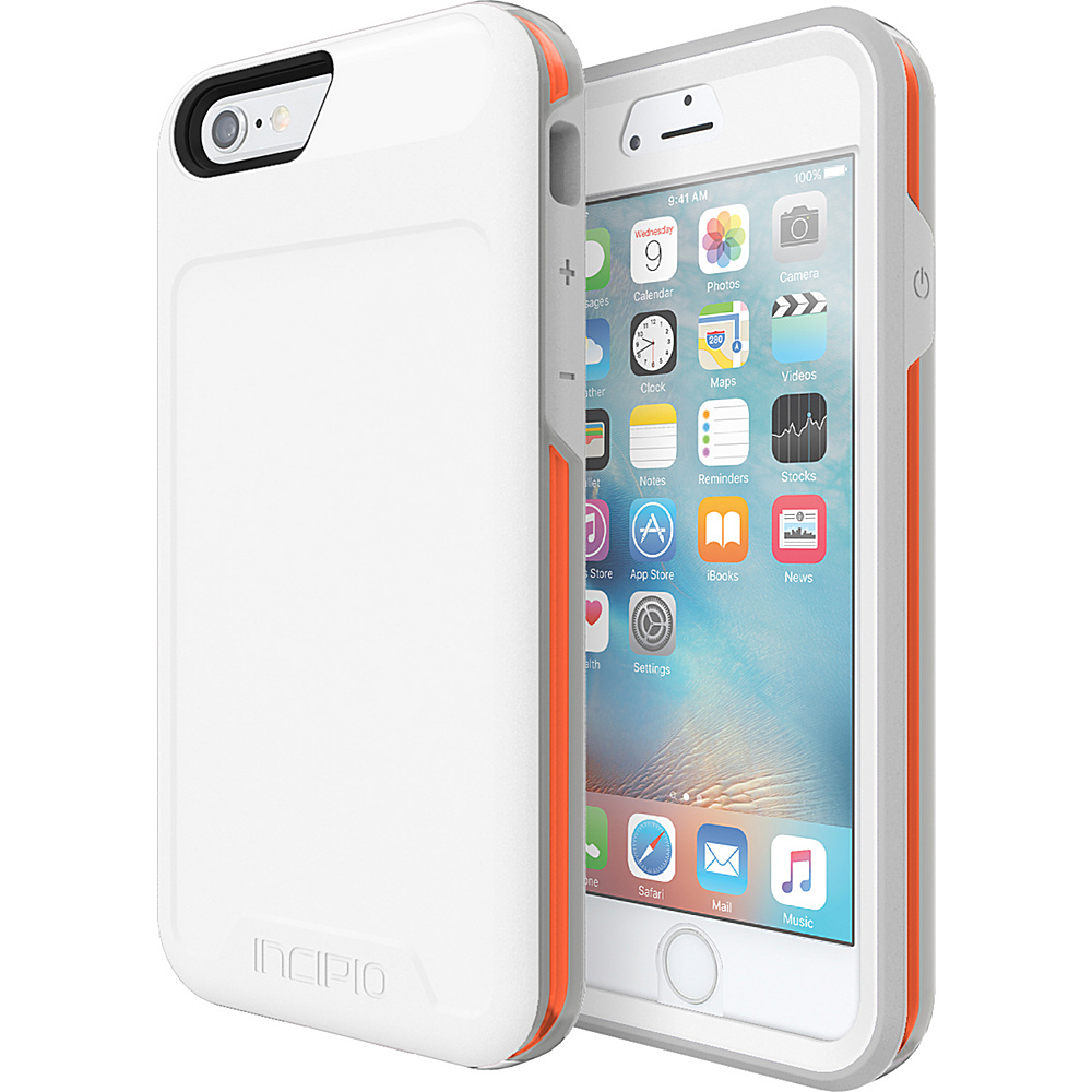 Incipio Performance Series Level 5 for iPhone 6/6s White/Orange - Incipio Electronic Cases - Technology, Electronic Cases