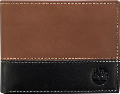 Timberland Wallets Hunter Two-Tone Commuter Wallet Brown/Black - Timberland Wallets Men's Wallets