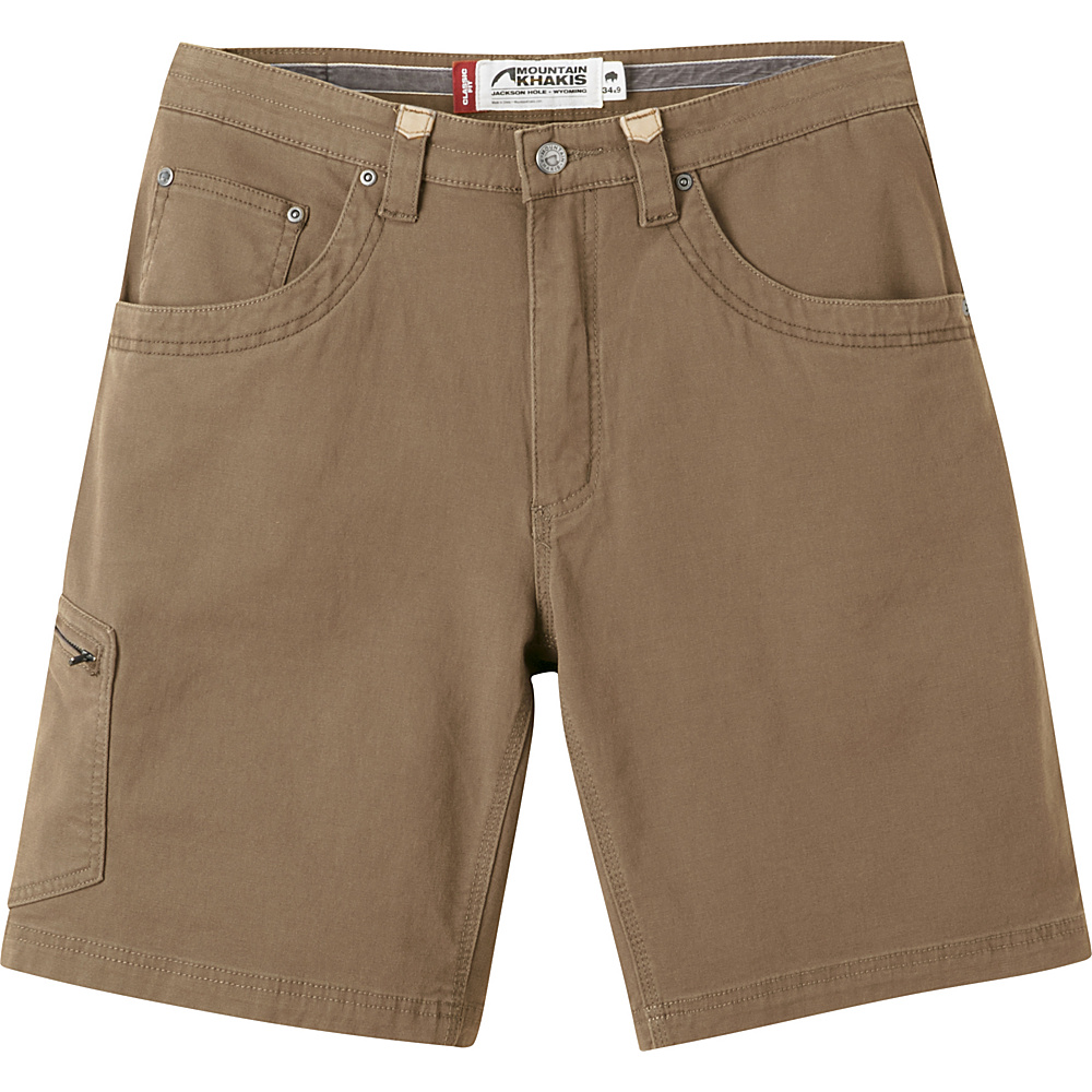 Mountain Khakis Camber 107 Shorts 36 - 9in - Tobacco - 30W 11in - Mountain Khakis Mens Apparel - Apparel & Footwear, Men's Apparel