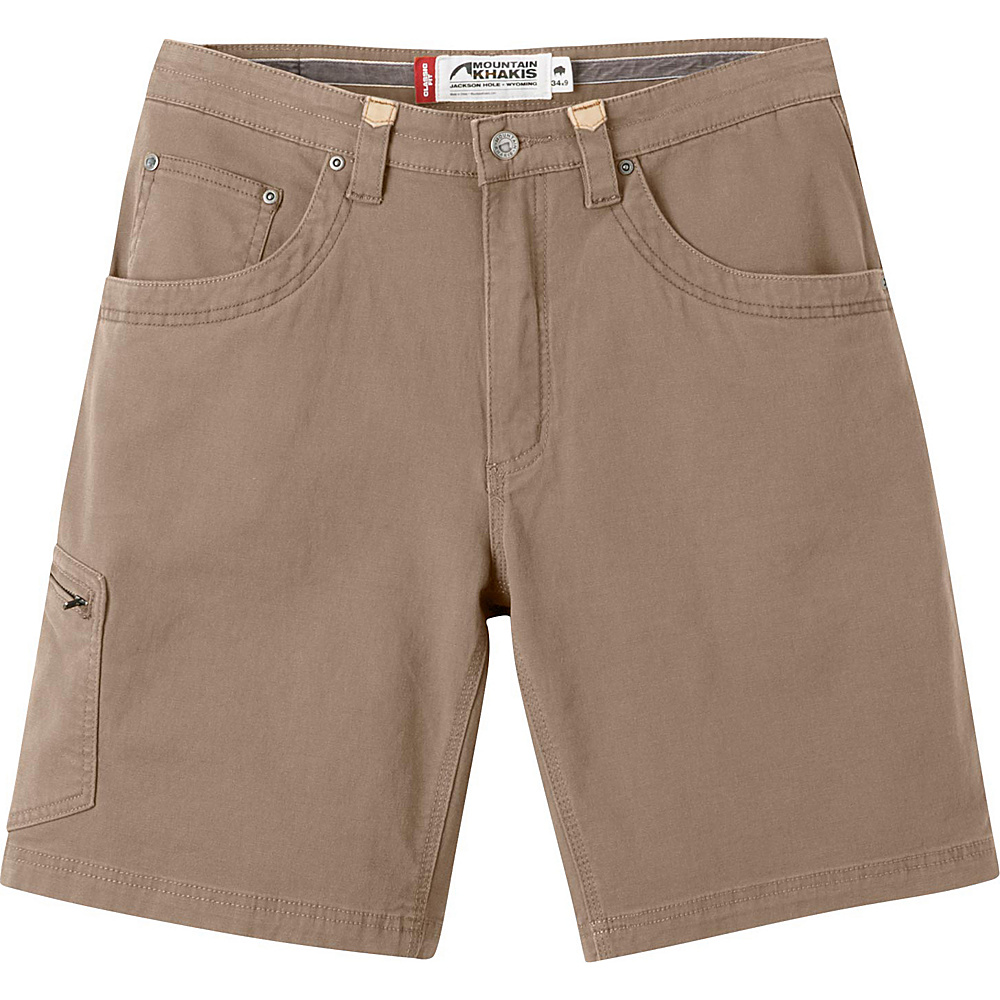 Mountain Khakis Camber 107 Shorts 34 - 9in - Tobacco - 30W 11in - Mountain Khakis Mens Apparel - Apparel & Footwear, Men's Apparel