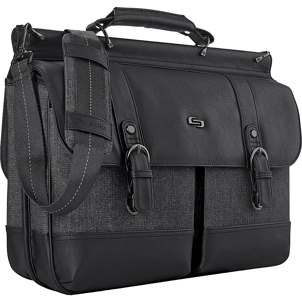 SOLO Bradford 15.6 Briefcase Black SOLO Non Wheeled Business Cases
