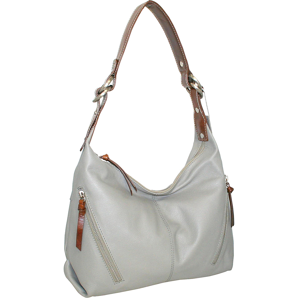 Nino Bossi Barbara Ann Hobo Stone - Nino Bossi Leather Handbags