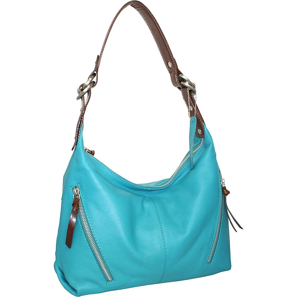 Nino Bossi Barbara Ann Hobo Turquoise - Nino Bossi Leather Handbags