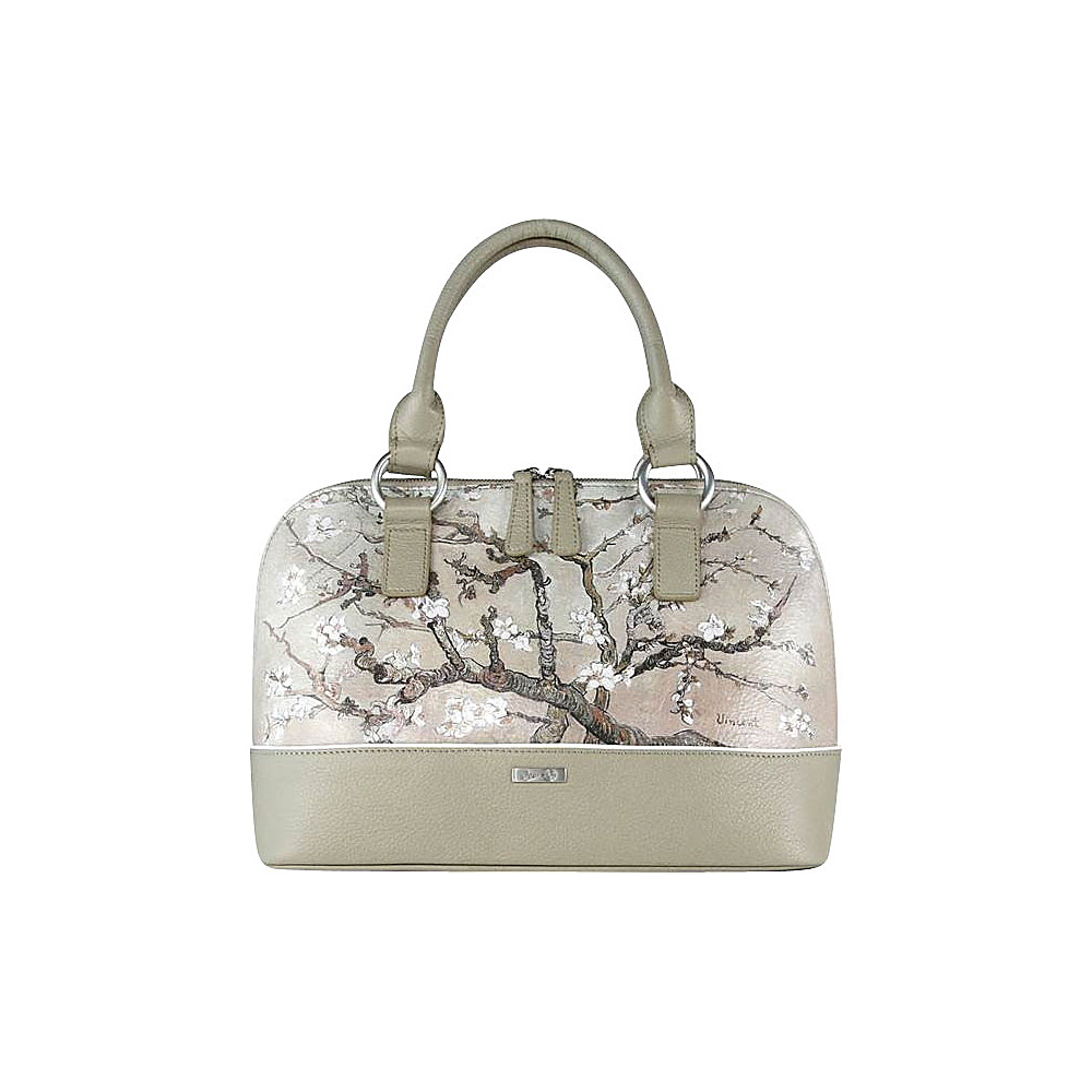 Icon Shoes Dome Satchel Almond Branch Icon Shoes Leather Handbags