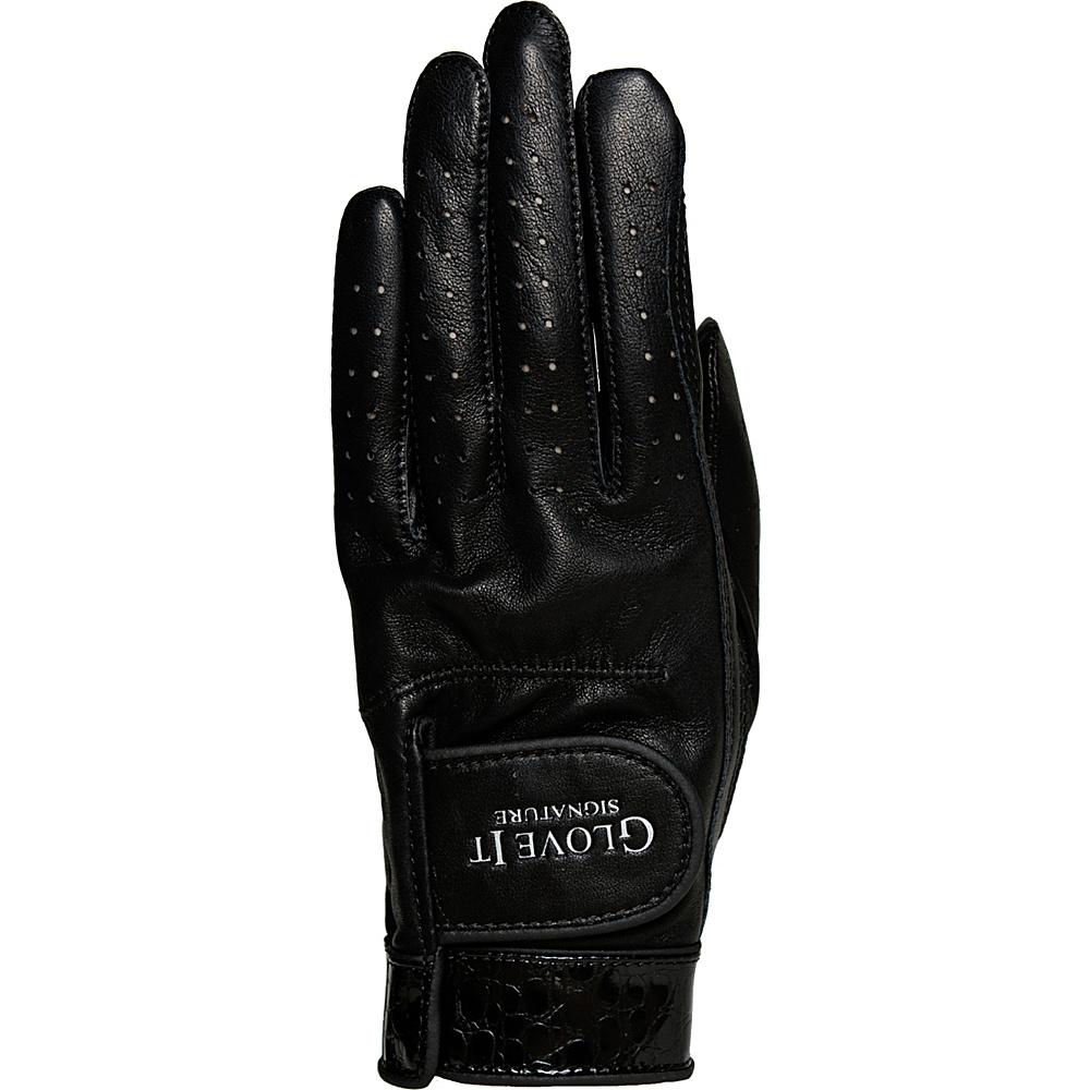 Glove It Signature Croco Glove Black Left Hand - Medium - Glove It Golf Bags