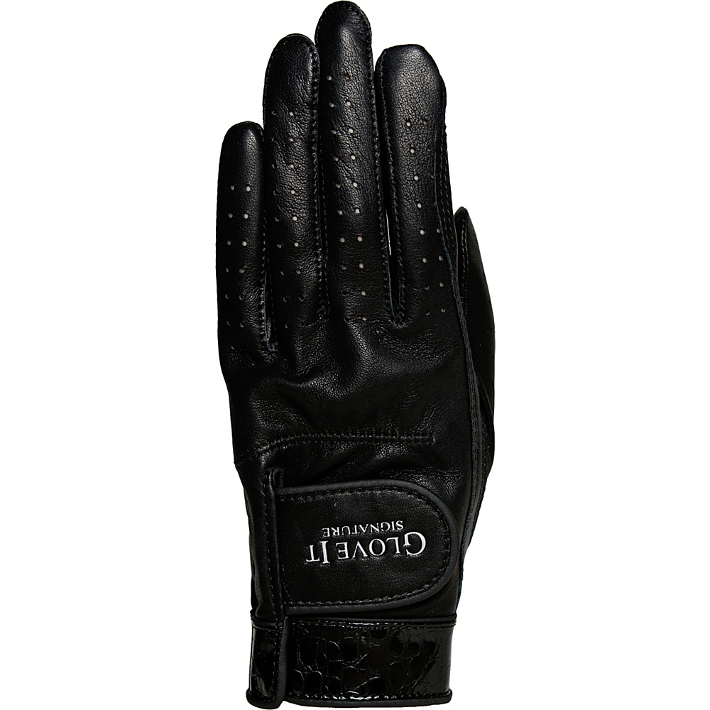 Glove It Signature Croco Glove Black Left Hand - Small - Glove It Golf Bags