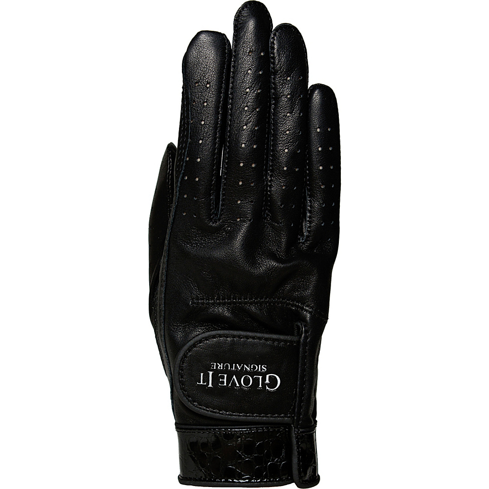 Glove It Signature Croco Glove Black Right Hand - Large - Glove It Golf Bags