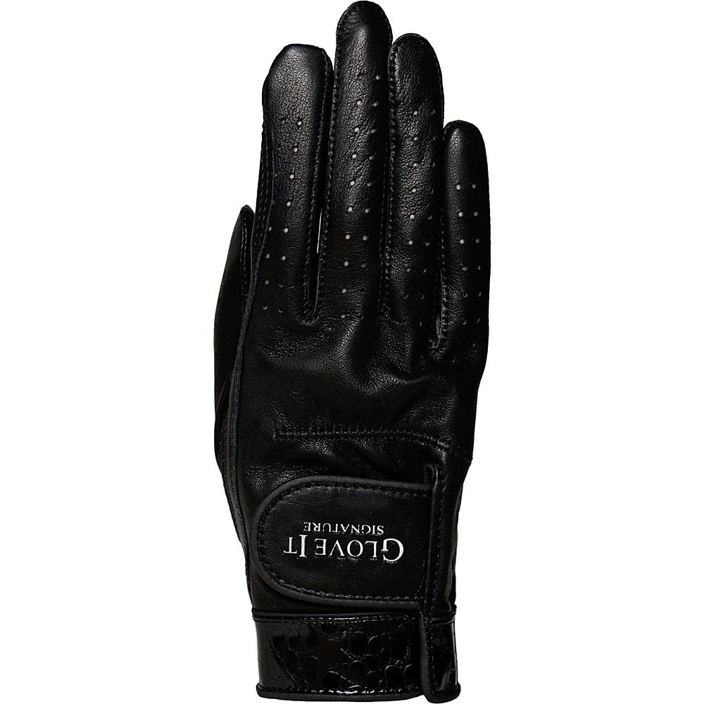 Glove It Signature Croco Glove Black Right Hand - Medium - Glove It Golf Bags