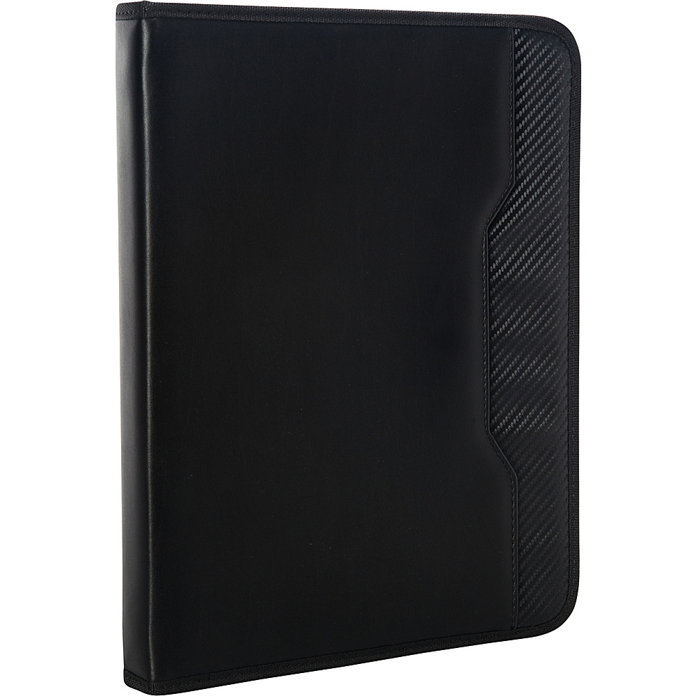 Goodhope Bags Galaxy Zippered Padfolio Black Goodhope Bags Business Accessories