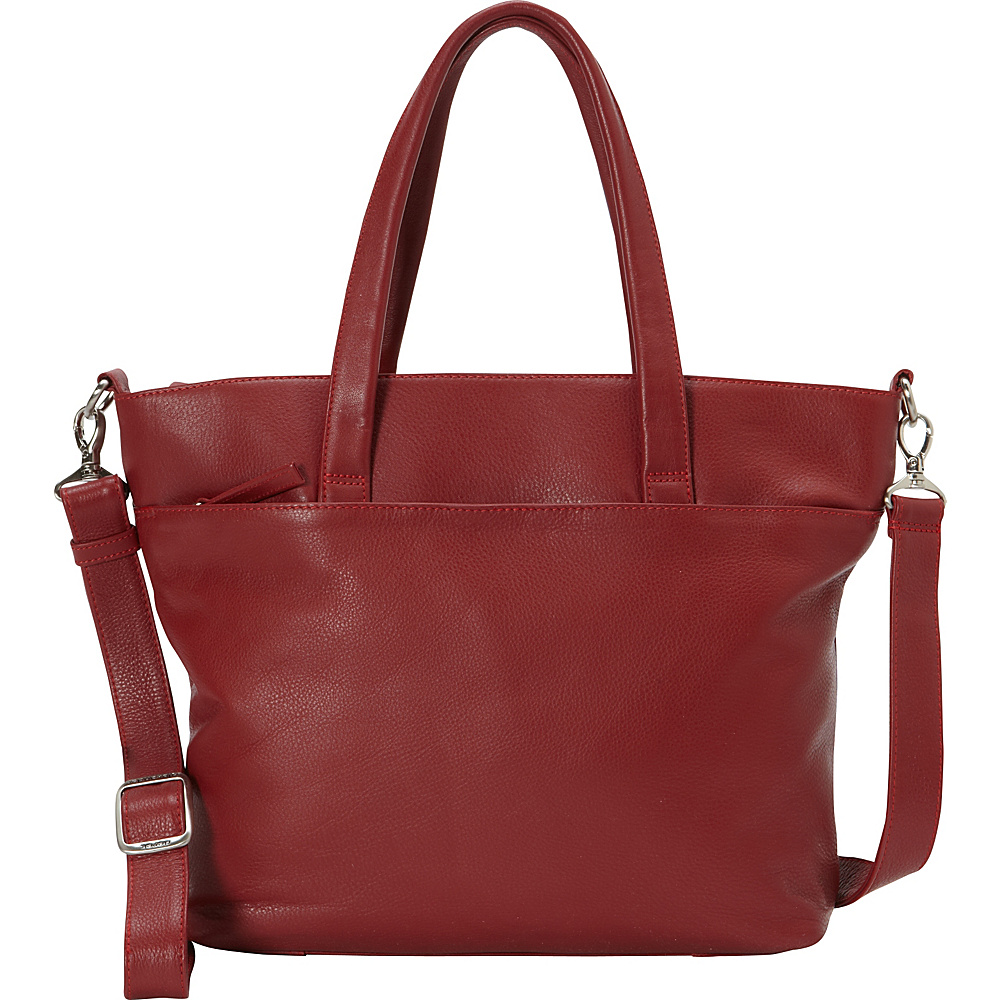 Derek Alexander EW Tote Tablet Friendly Two Compartment Red - Derek Alexander Leather Handbags - Handbags, Leather Handbags