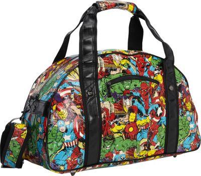 Marvel Marvel Comic Multi-Character Retro Gym Bag Black - Marvel Travel Duffels