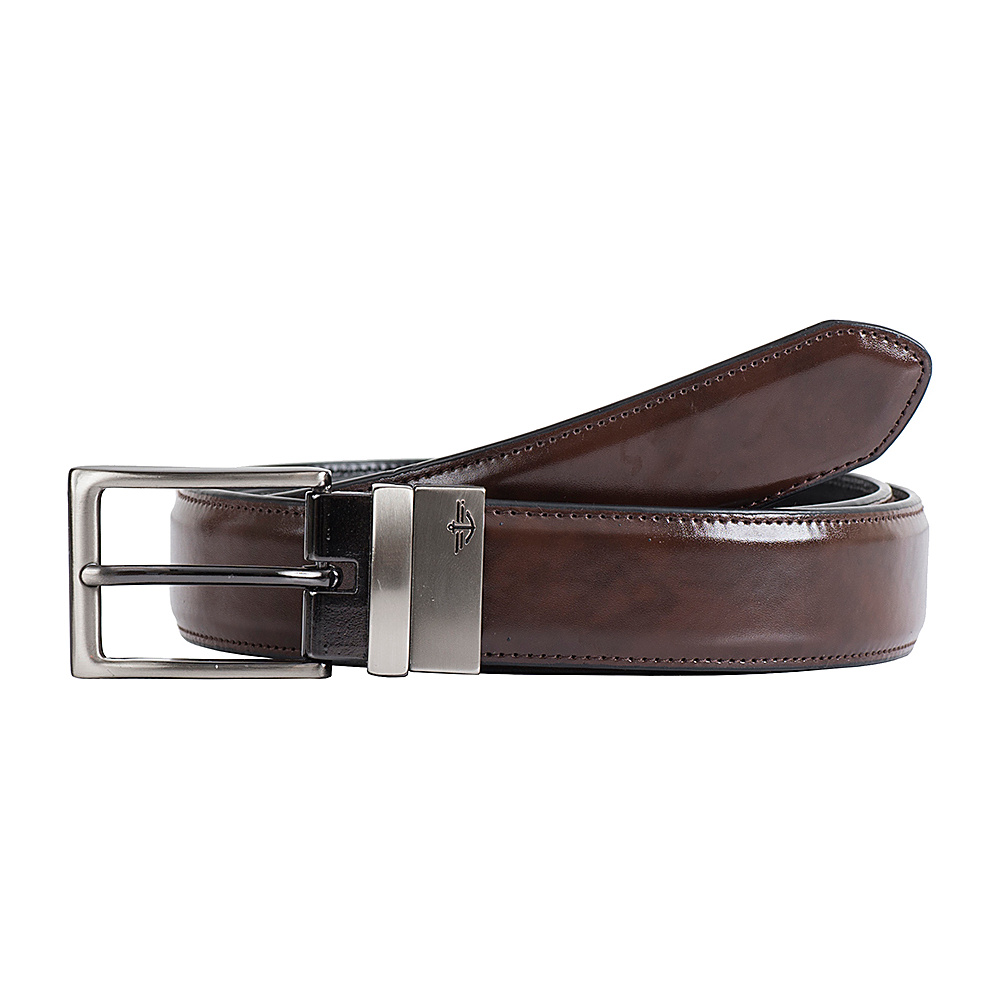 Dockers 32MM Feather Edge Reversible with Edge Stitch Brown Black 44 Dockers Other Fashion Accessories
