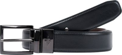 Dockers 32MM Feather Edge Reversible with Edge Stitch 34 - Black/Brown - 32 - Dockers Other Fashion Accessories