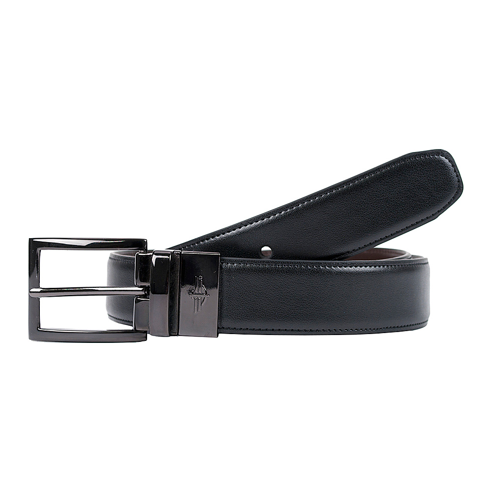 Dockers 32MM Feather Edge Reversible with Edge Stitch Black Brown 40 Dockers Other Fashion Accessories