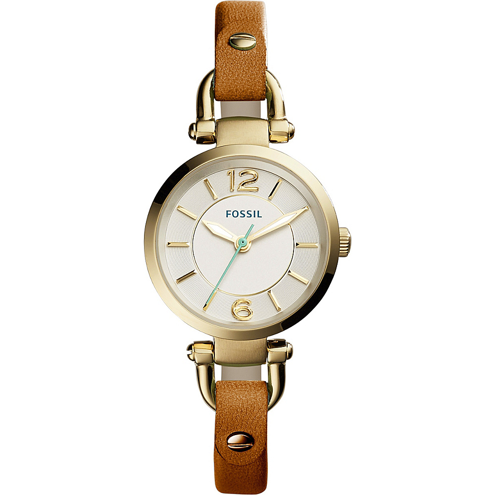 Fossil Georgia Mini Leather Watch Brown - Fossil Watches - Fashion Accessories, Watches