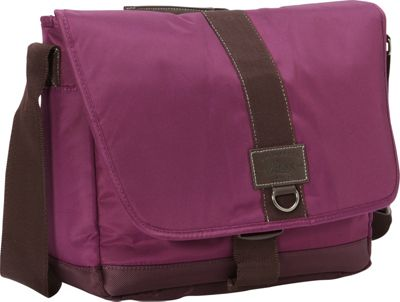 GH Bass & CO Luggage McKinley Messenger Purple - GH Bass & CO Luggage Messenger Bags