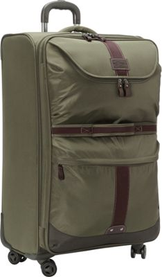 GH Bass & CO Luggage McKinley 29 inch Upright Spinner Olive - GH Bass & CO Luggage Softside Checked